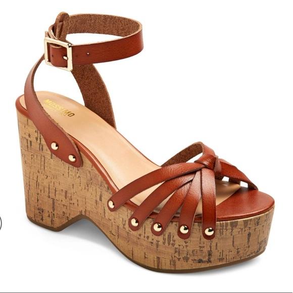 0aeb2d45ea8b Mossimo Erie Wood Flatform Wedge Sandals 11